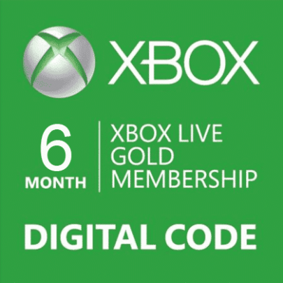 xbox live gold membership 6 month