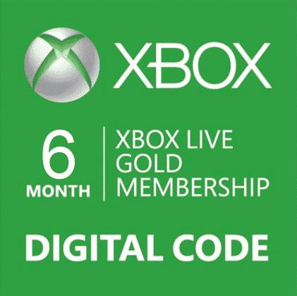 xbox live gold membership 6 month