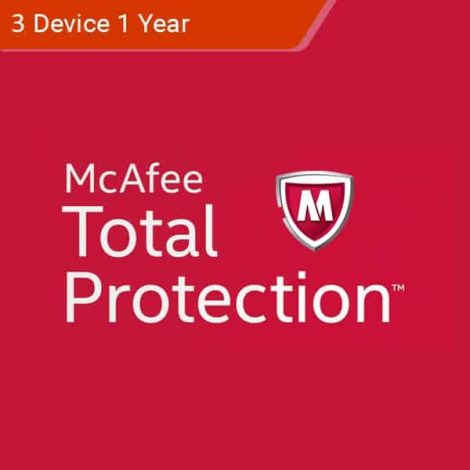 McAfee Total Protection 2018 - 3 Device - 1 Year